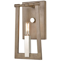 ELK 55050/1 Axis 1 Light 6 inch Light Wood with Satin Nickel Wall Sconce Wall Light