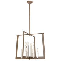 ELK 55054/8 Axis 8 Light 24 inch Light Wood with Satin Nickel Pendant Ceiling Light