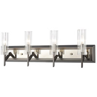 ELK 55072/4 Aspire 4 Light 28 inch Black Nickel with Polished Nickel Vanity Light Wall Light
