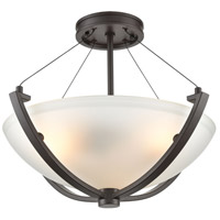 ELK 55082/3 Roebling 3 Light 18 inch Oil Rubbed Bronze Semi Flush Mount Ceiling Light
