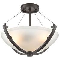 ELK 55082/3 Roebling 3 Light 18 inch Oil Rubbed Bronze Semi Flush Mount Ceiling Light