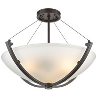 ELK 55083/3 Roebling 3 Light 23 inch Oil Rubbed Bronze Semi Flush Mount Ceiling Light