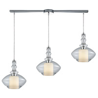 ELK 56500/3L Alora 3 Light 36 inch Polished Chrome Mini Pendant Ceiling Light in Linear with Recessed Adapter, Linear