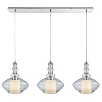 ELK 56500/3LP Alora 3 Light 36 inch Polished Chrome Mini Pendant Ceiling Light in Linear, Linear