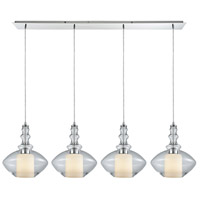 ELK 56500/4LP Alora 4 Light 46 inch Polished Chrome Mini Pendant Ceiling Light in Linear, Linear