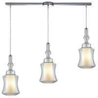 ELK 56501/3L Alora 3 Light 36 inch Polished Chrome Mini Pendant Ceiling Light in Linear with Recessed Adapter, Linear