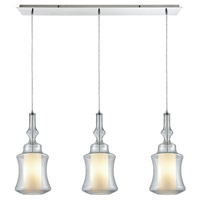 ELK 56501/3LP Alora 3 Light 36 inch Polished Chrome Mini Pendant Ceiling Light in Linear, Linear