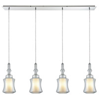 Alora 4 Light 46 inch Polished Chrome Pendant Ceiling Light, Linear Pan
