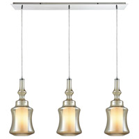 ELK 56502/3LP Alora 3 Light 36 inch Polished Chrome Linear Pendant Ceiling Light, Linear Pan photo thumbnail