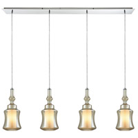 ELK 56502/4LP Alora 4 Light 46 inch Polished Chrome Mini Pendant Ceiling Light in Linear, Linear