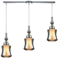 ELK 56503/3L Alora 3 Light 36 inch Polished Chrome Mini Pendant Ceiling Light in Linear with Recessed Adapter, Linear