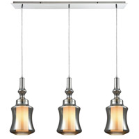 Alora 3 Light 36 inch Polished Chrome Pendant Ceiling Light, Linear Pan