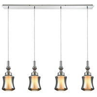 Alora 4 Light 46 inch Polished Chrome Linear Pendant Ceiling Light, Linear Pan