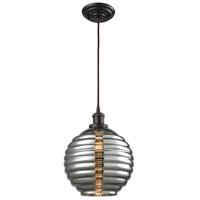 ELK 56550/1 Ridley 1 Light 10 inch Oil Rubbed Bronze Pendant Ceiling Light