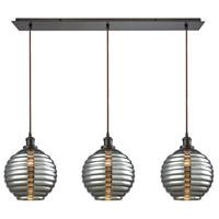 elk 565503lp ridley 3 light 36 inch oil rubbed bronze pendant ceiling light