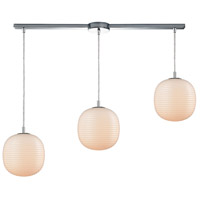 ELK 56560/3L Beehive 3 Light 36 inch Polished Chrome Mini Pendant Ceiling Light in Linear with Recessed Adapter, Linear