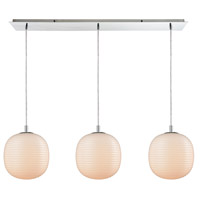 ELK 56560/3LP Beehive 3 Light 36 inch Polished Chrome Mini Pendant Ceiling Light in Linear Linear