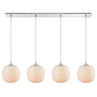 ELK 56560/4LP Beehive 4 Light 46 inch Polished Chrome Mini Pendant Ceiling Light in Linear Linear