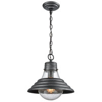 ELK 56571/1-LA Stratham 1 Light 13 inch Silvered Graphite Pendant Ceiling Light in Recessed Adapter Kit