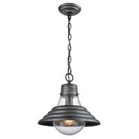 ELK 56571/1 Stratham 1 Light 13 inch Silvered Graphite Pendant Ceiling Light in Standard