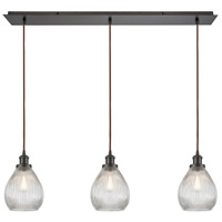 Jackson 3 Light 36 inch Oil Rubbed Bronze Linear Pendant Ceiling Light