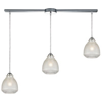 Victoriana 3 Light 38 inch Polished Chrome Linear Pendant Ceiling Light in Linear with Recessed Adapter