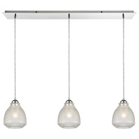 Victoriana 3 Light 36 inch Polished Chrome Linear Pendant Ceiling Light