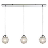 Victoriana 3 Light 36 inch Polished Chrome Pendant Ceiling Light