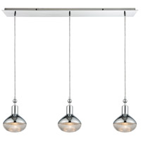 Ravette 3 Light 36 inch Polished Chrome Linear Pendant Ceiling Light