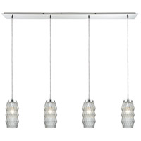 ELK 56650/4LP Zigzag 4 Light 46 inch Polished Chrome Mini Pendant Ceiling Light in Linear Linear
