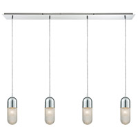 ELK 56661/4LP Capsula 4 Light 46 inch Polished Chrome Mini Pendant Ceiling Light in Linear Linear