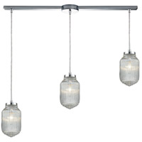 Dubois 3 Light 38 inch Polished Chrome Linear Pendant Ceiling Light in Linear with Recessed Adapter