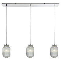 Dubois 3 Light 10 inch Polished Chrome Linear Pendant Ceiling Light