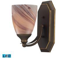 ELK Lighting Vanity 1 Light Bath Bar in Aged Bronze 570-1B-CR-LED