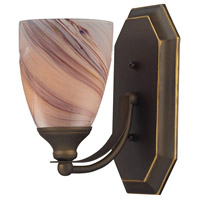 ELK Lighting Vanity 1 Light Bath Bar in Aged Bronze 570-1B-CR