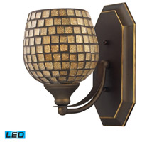 ELK Lighting Vanity 1 Light Bath Bar in Aged Bronze 570-1B-GLD-LED