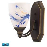 ELK Lighting Vanity 1 Light Bath Bar in Aged Bronze 570-1B-MT-LED