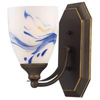 ELK 570-1B-MT Vanity 1 Light 5 inch Aged Bronze Bath Bar Wall Light in Standard Mountain Glass