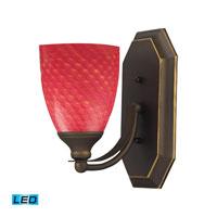 ELK Lighting Vanity 1 Light Bath Bar in Aged Bronze 570-1B-SC-LED