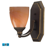 ELK Lighting Vanity 1 Light Bath Bar in Aged Bronze 570-1B-SY-LED
