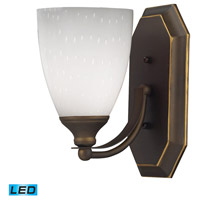 ELK Lighting Vanity 1 Light Bath Bar in Aged Bronze 570-1B-WH-LED