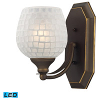 ELK Lighting Vanity 1 Light Bath Bar in Aged Bronze 570-1B-WHT-LED