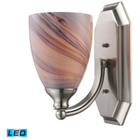 ELK 570-1N-CR-LED Vanity LED 5 inch Satin Nickel Bath Bar Wall Light in Creme Glass, 1 photo thumbnail