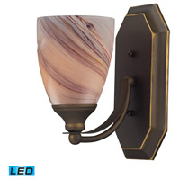 ELK 570-1B-CR-LED Bath and Spa LED 8 inch Aged Bronze Vanity Light Wall Light in Creme, 1
