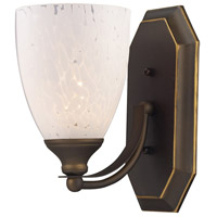ELK 570-1B-SW Vanity 1 Light 5 inch Aged Bronze Bath Bar Wall Light in Standard, Snow White Glass photo thumbnail