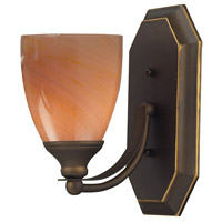 ELK 570-1B-SY Vanity 1 Light 5 inch Aged Bronze Bath Bar Wall Light in Standard, Sandy Glass photo thumbnail