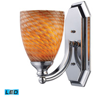 ELK 570-1C-C-LED Bath and Spa LED 8 inch Polished Chrome Vanity Light Wall Light in Cocoa, 1