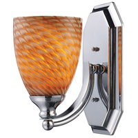 ELK 570-1C-C Mix and Match 1 Light 8 inch Polished Chrome Vanity Light Wall Light in Cocoa, Incandescent