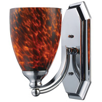 ELK 570-1C-ES Mix and Match 1 Light 8 inch Polished Chrome Vanity Light Wall Light in Espresso, Incandescent
