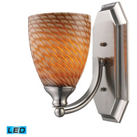 ELK 570-1N-C-LED Bath and Spa LED 8 inch Satin Nickel Vanity Light Wall Light in Cocoa, 1